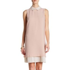 Nanette Lepore Pleated Lace Collar dress size 10